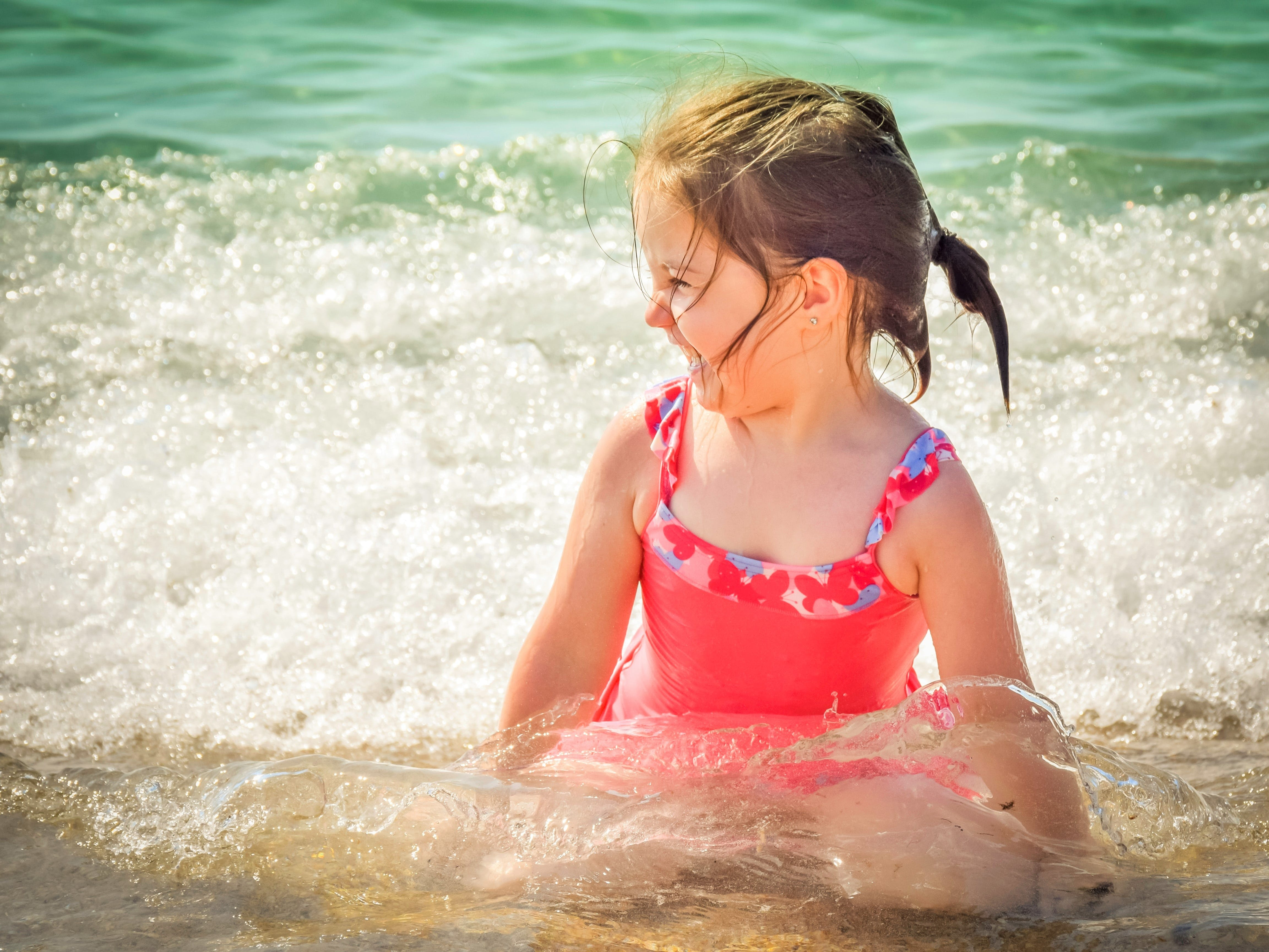 beach, child, enjoyment