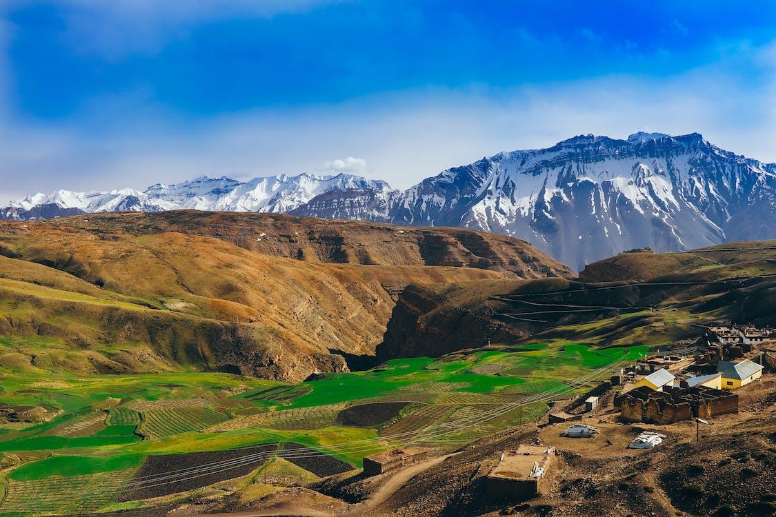Immagine gratuita di acqua, agricultura no vale da montanha, alba