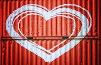 red, love, art