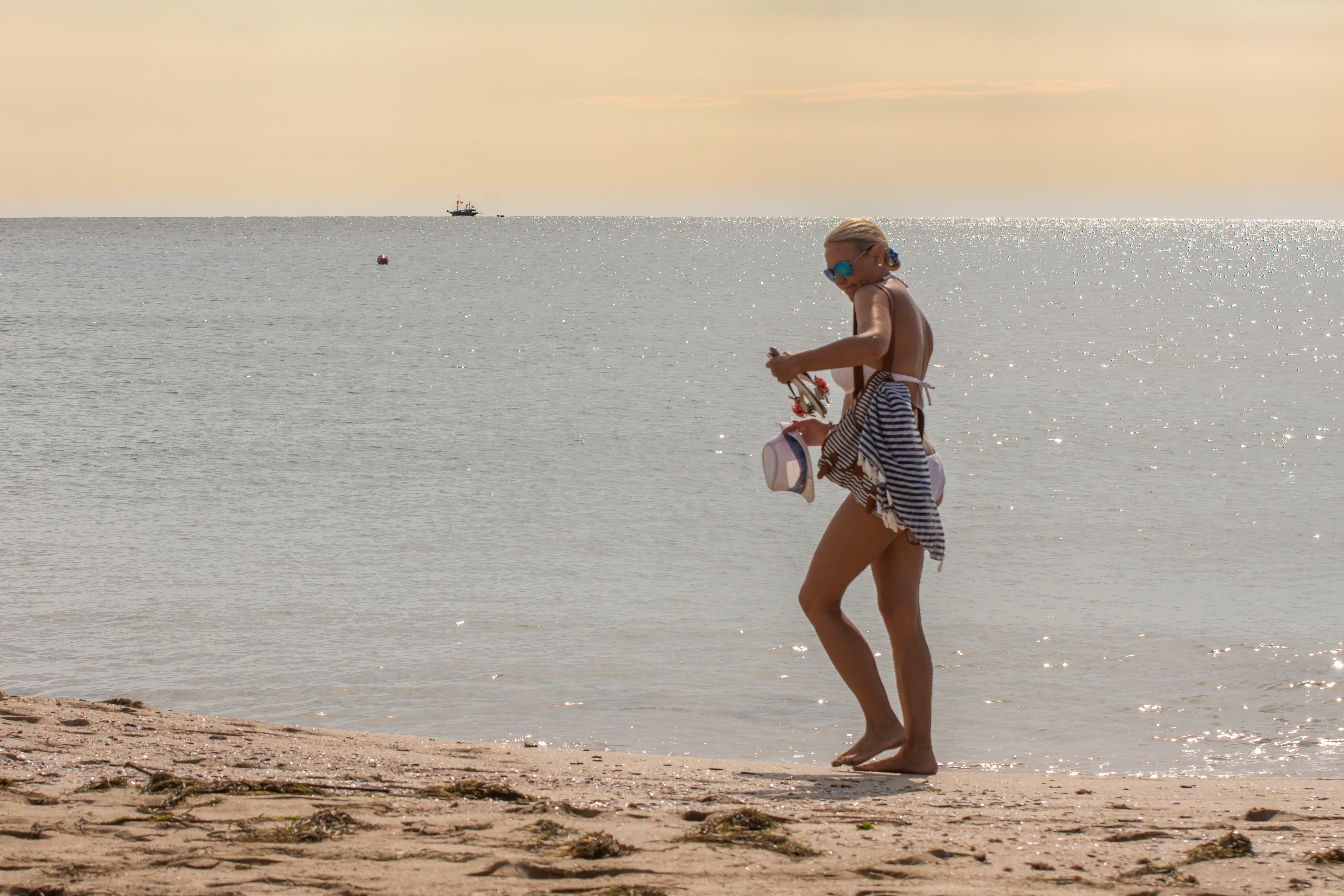 Free stock photo of beach, bikini, body, female