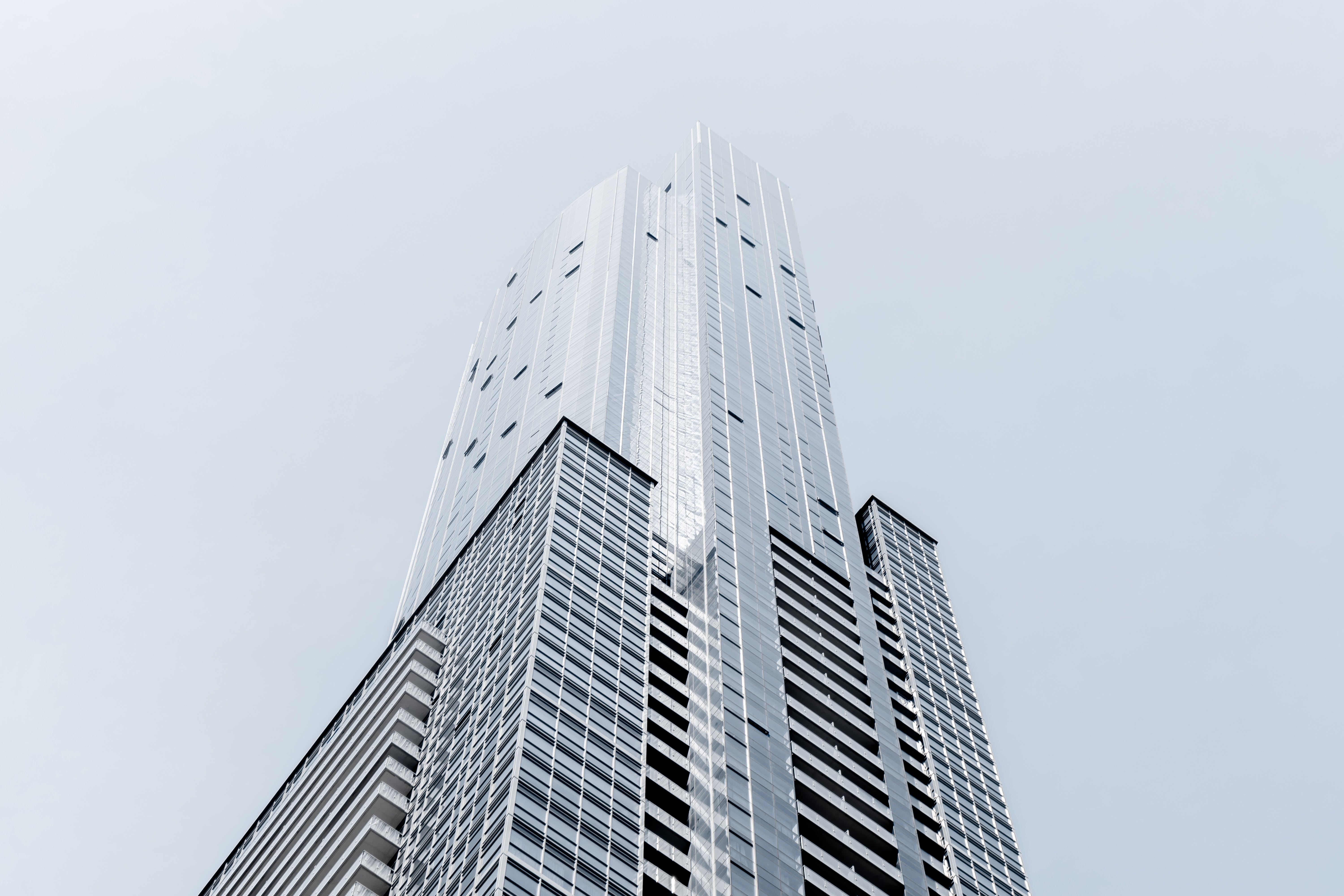 Low Angle Photography of Silver High Rise Building