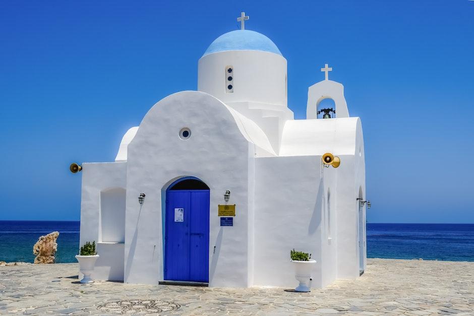 architecture, beach, blue sky