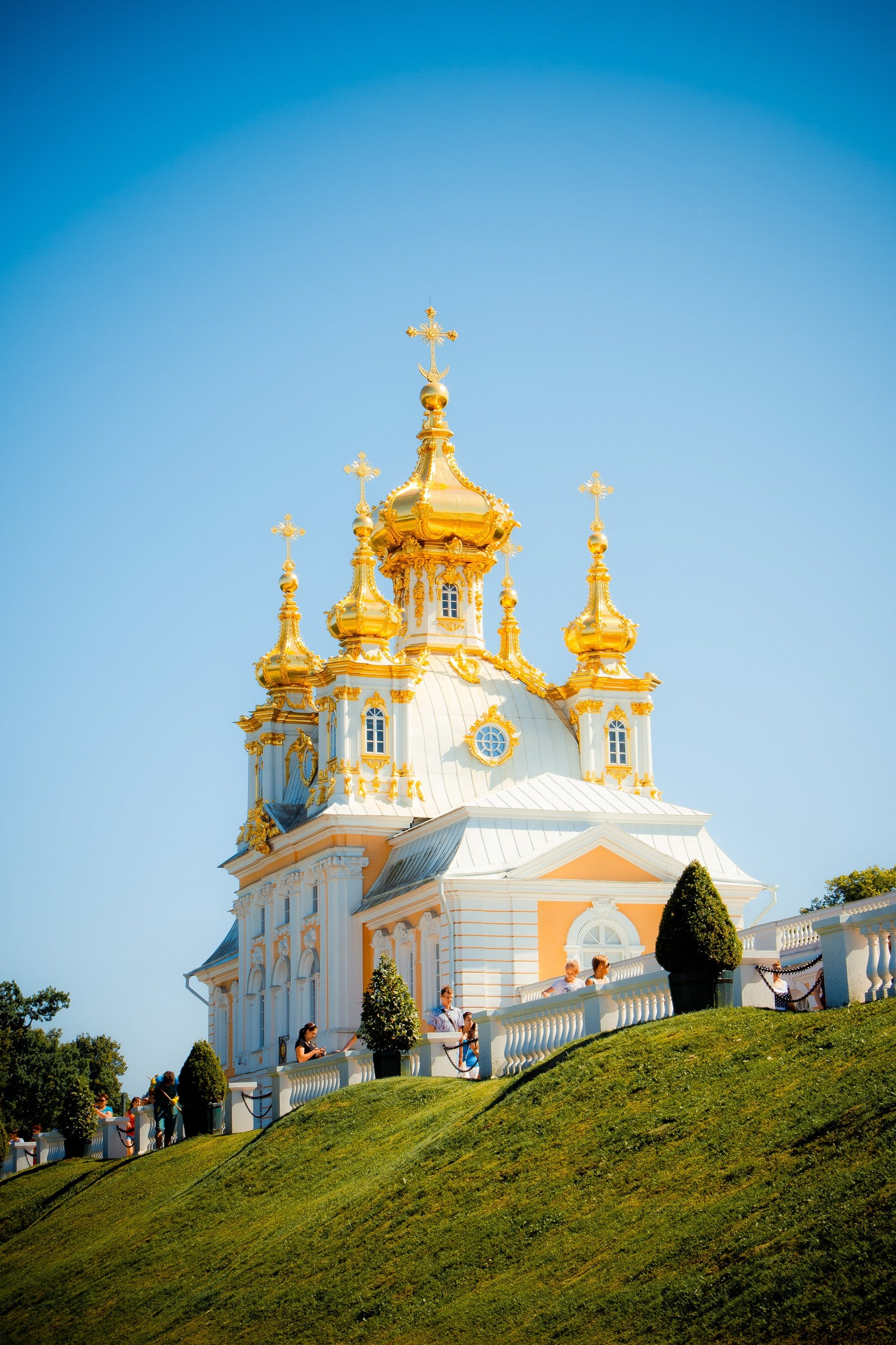 White and Gold Church