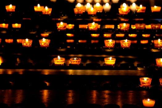 Free stock photo of lights, dark, yellow, blur