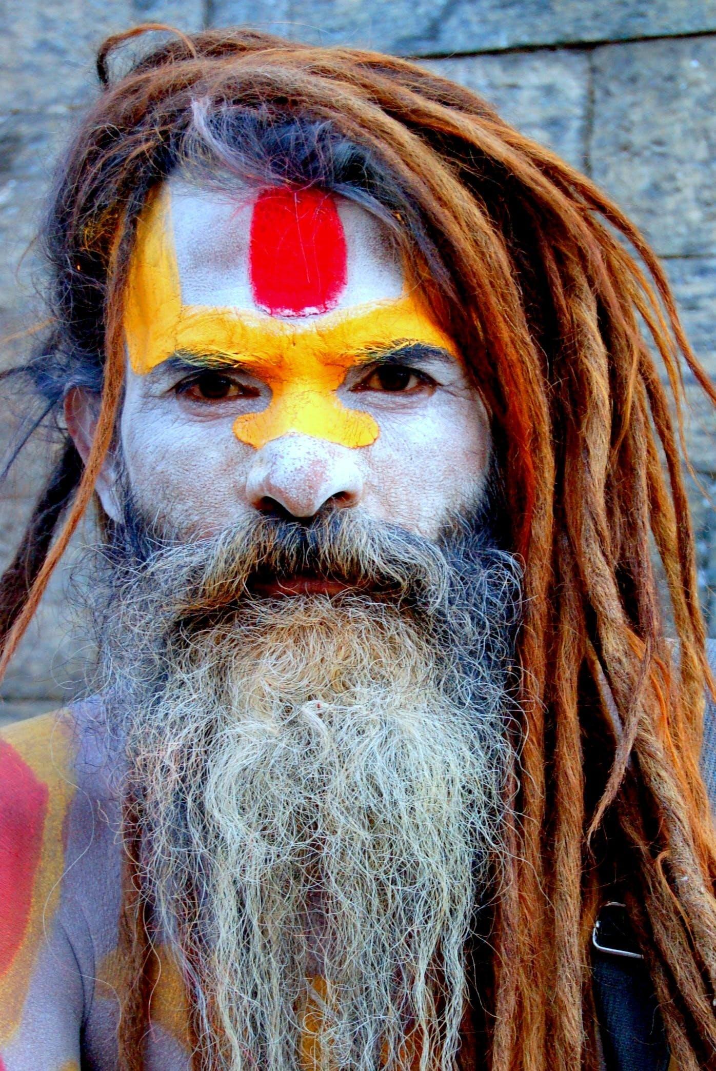 남자, 눈, 다채로운, 머리의