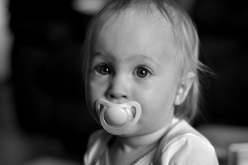 Základová fotografie zdarma na téma batole, bílá, černobílý, dítě