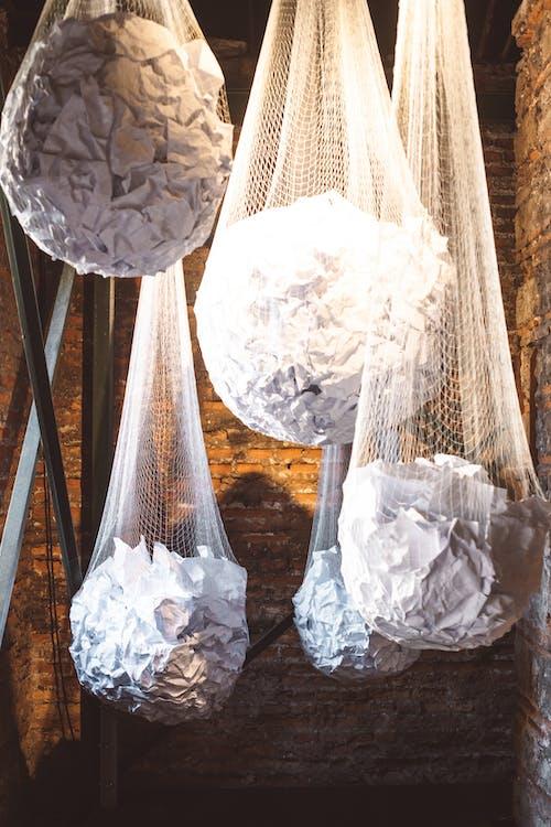 가방, 구겨진 종이, 그물의 무료 스톡 사진