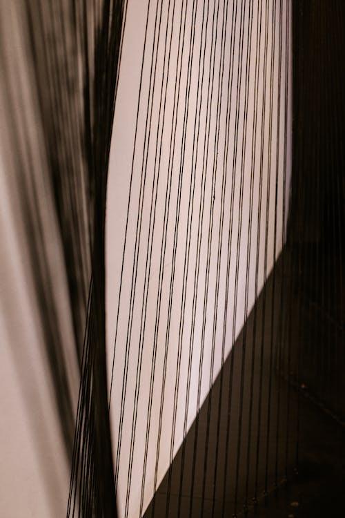 Kostenloses Stock Foto zu linie, nahansicht, saiteninstrument