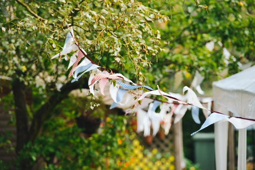 Free stock photo of festival, flags, garden, party