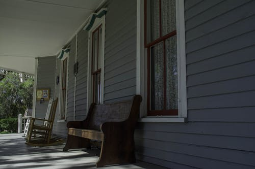 Free stock photo of chair, gray, porch