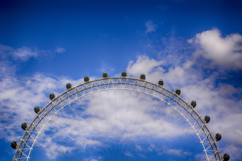 blue sky, bright, clouds