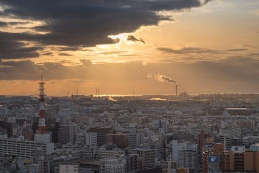 Free stock photo of city, landmark, night, skyline