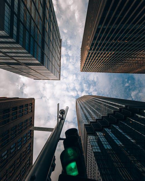 Ingyenes stockfotó ablak, absztrakt, alkonyat, belváros témában