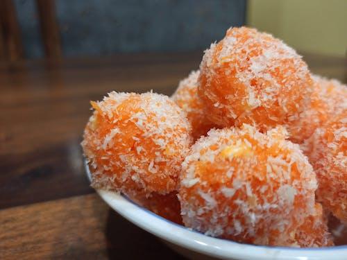 Kostnadsfri bild av apelsin, kokosnöt, laddoo, orange
