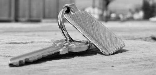 Imagine de stoc gratuită din alb-negru, breloc, cheie, concentrare