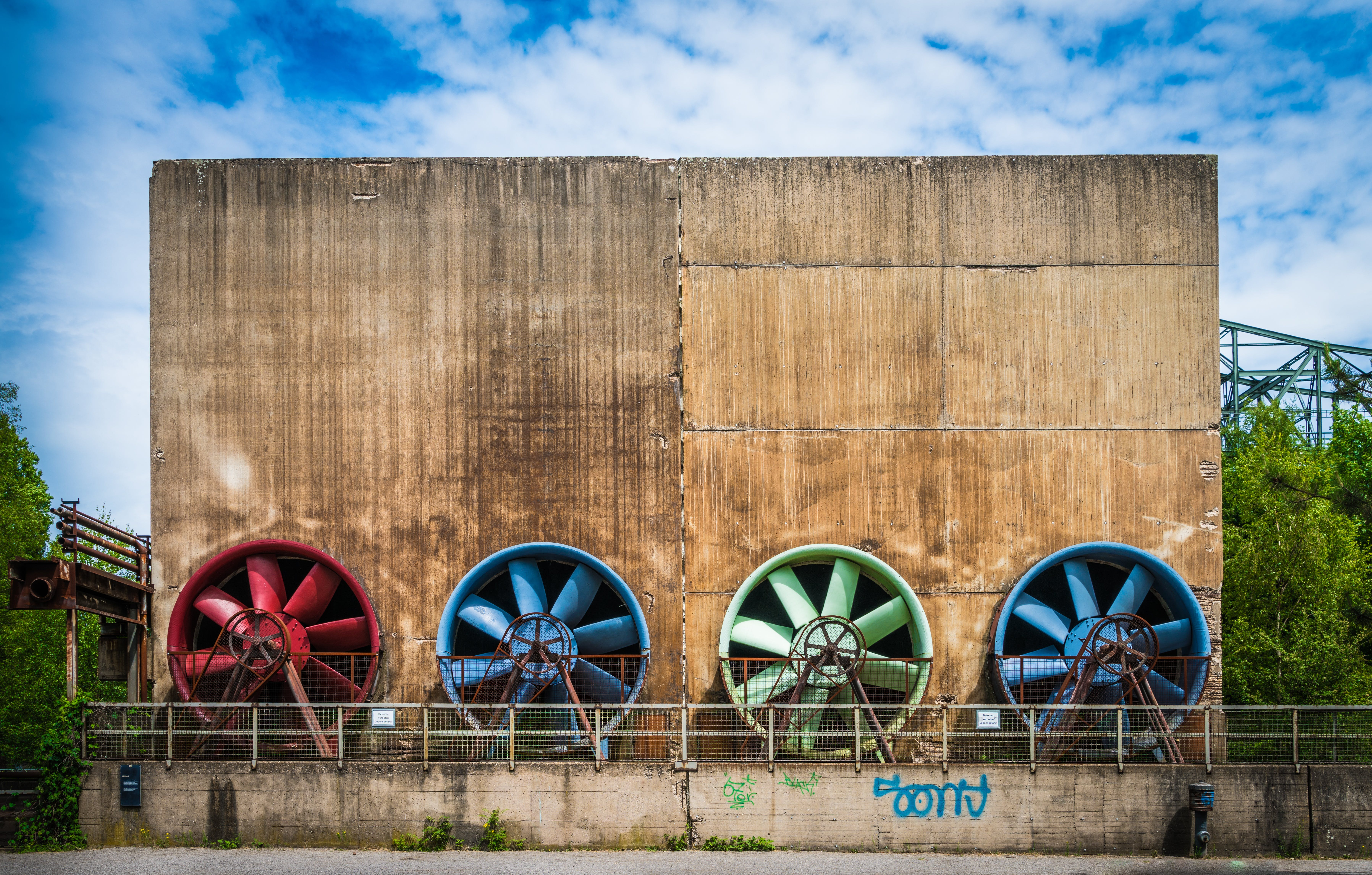 Free stock photo of industry, fan, ruhr area, duisburg