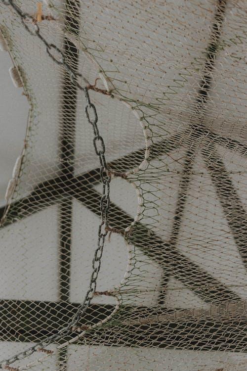 Foto d'estoc gratuïta de acer, blanc, cadena