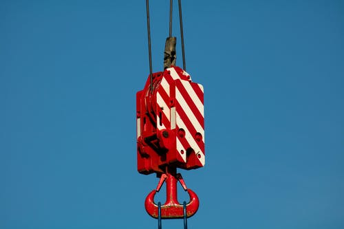 Red and White Pulley System