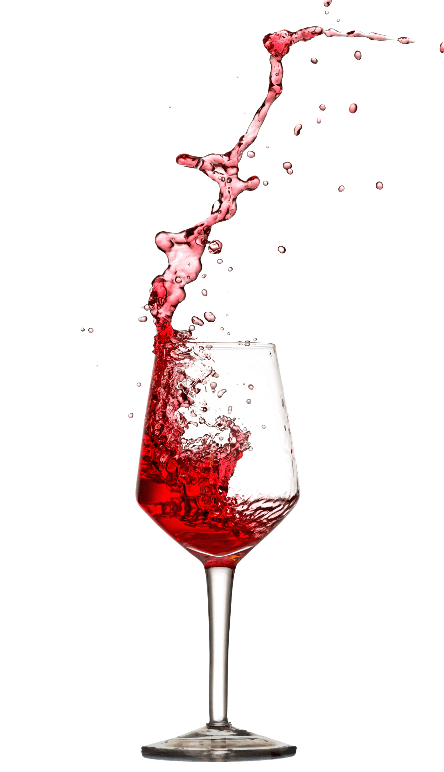 Red Wine Poured in Wine Glass