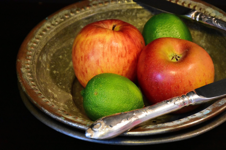 apples, bowl, breakfast