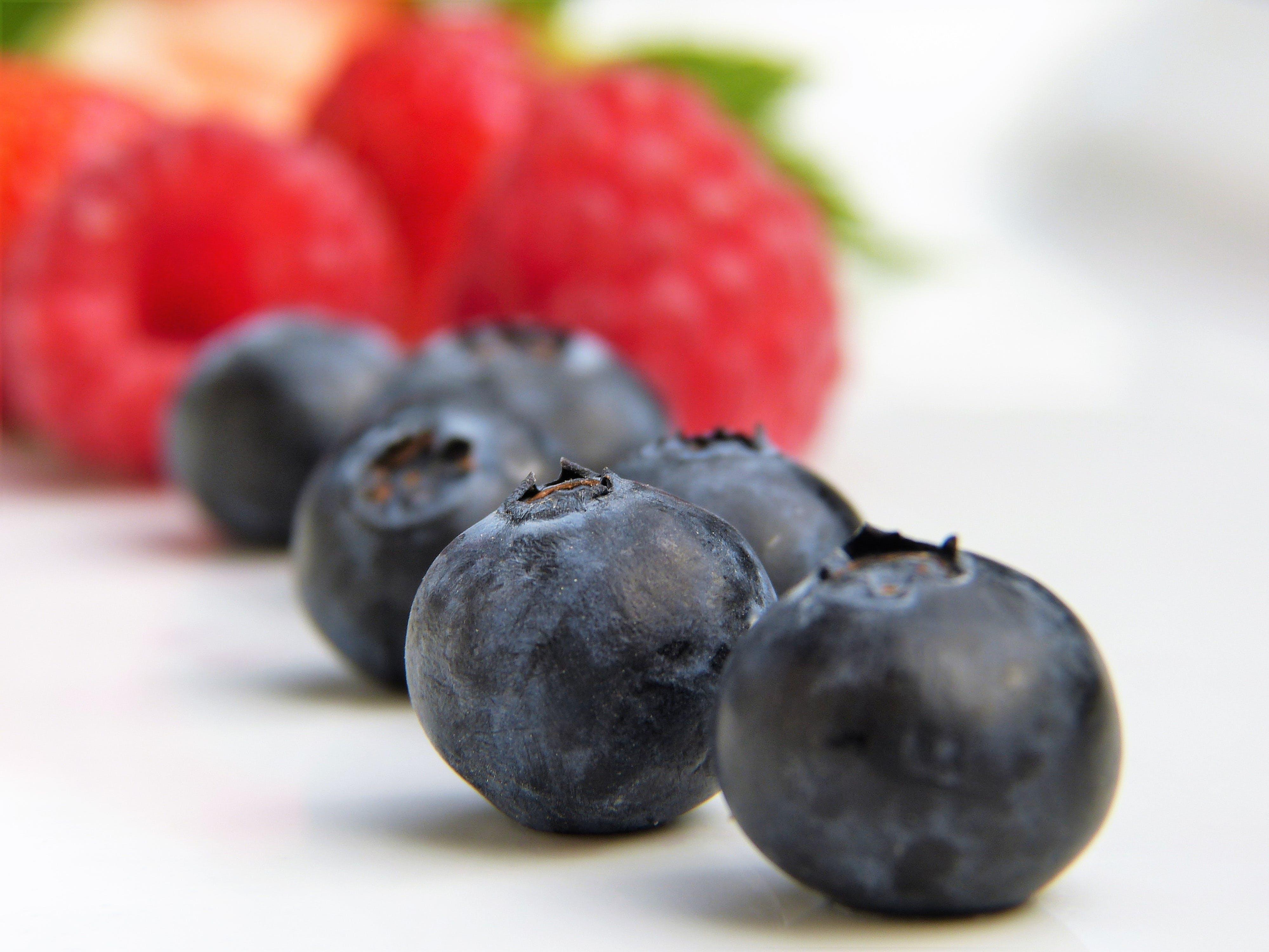 berries, bio, blueberries