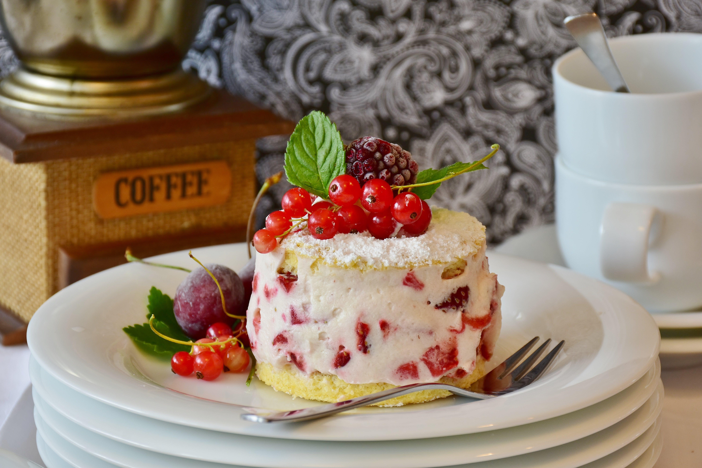 Plate of Fruity Cake
