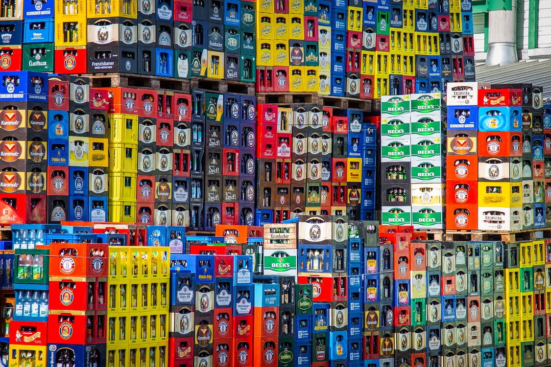 Pile of Beverage Crates