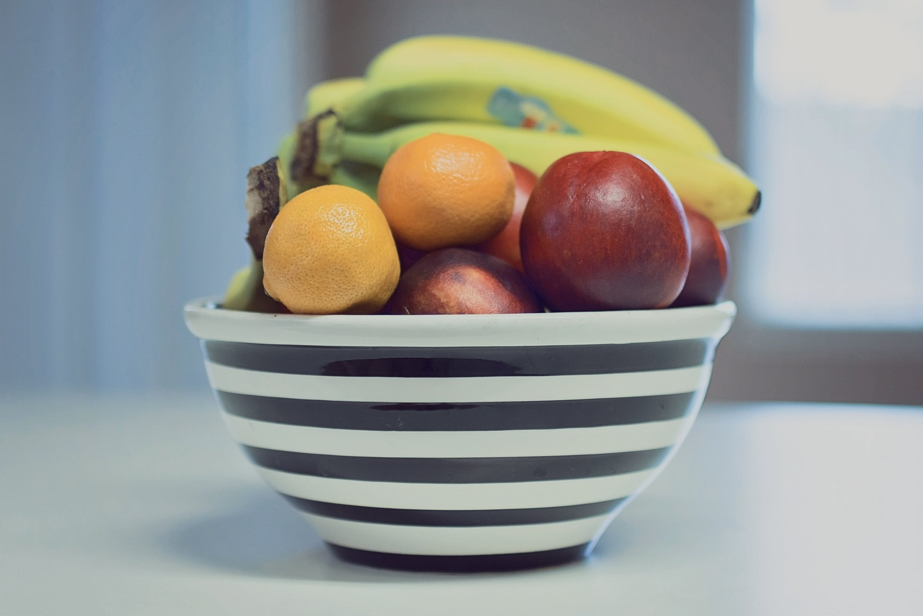 apples, assorted, bananas