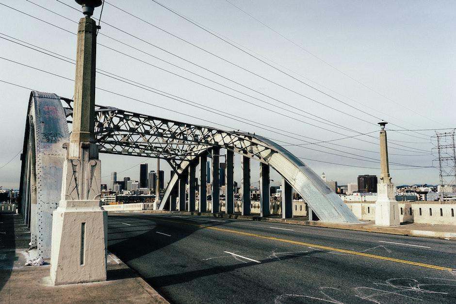 bridge, street