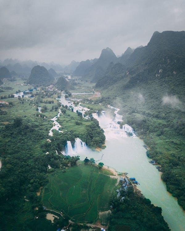 Tam Coc, Vietnam, Arrozales