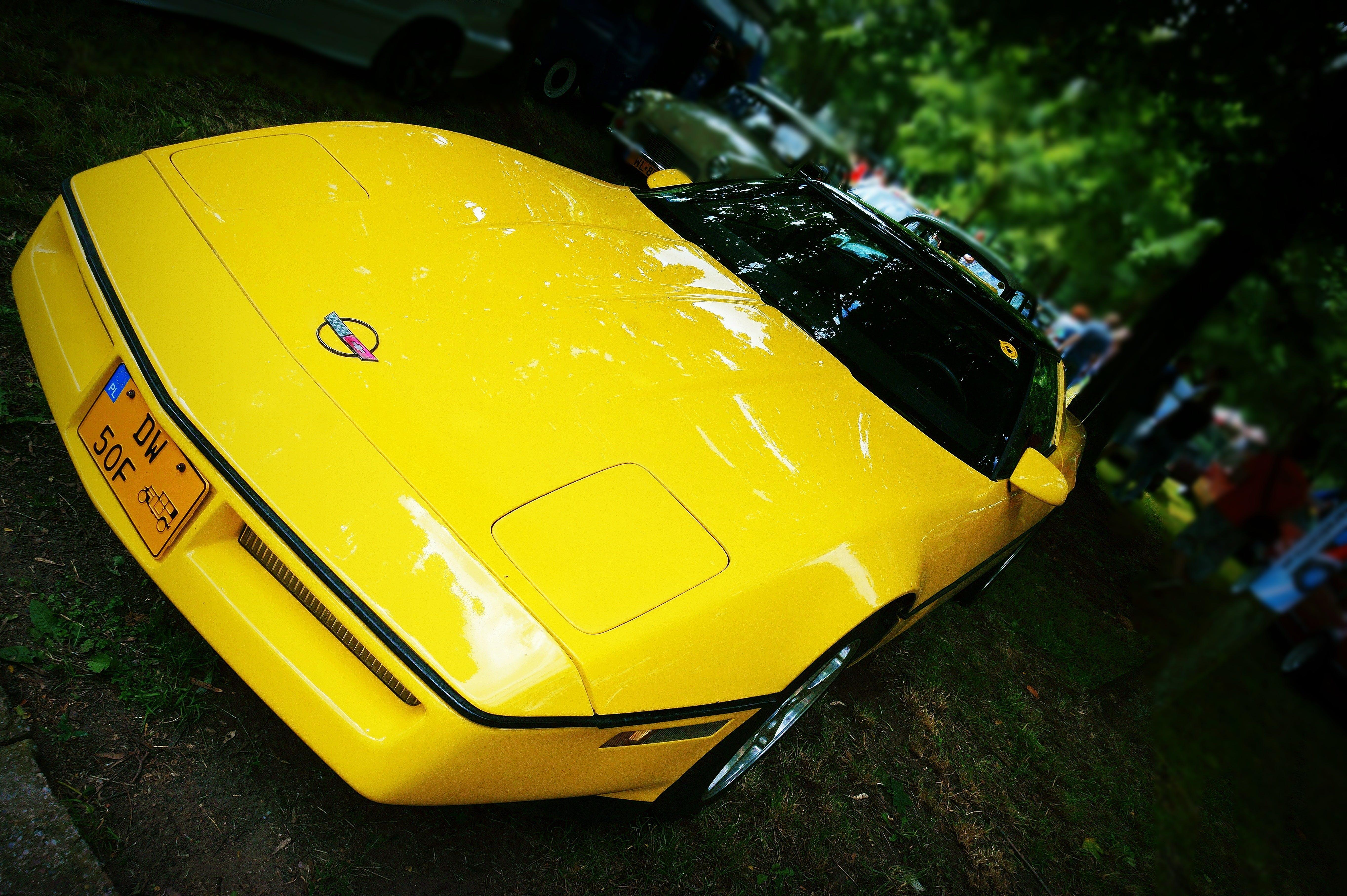 Free stock photo of dark, yellow, car, usa