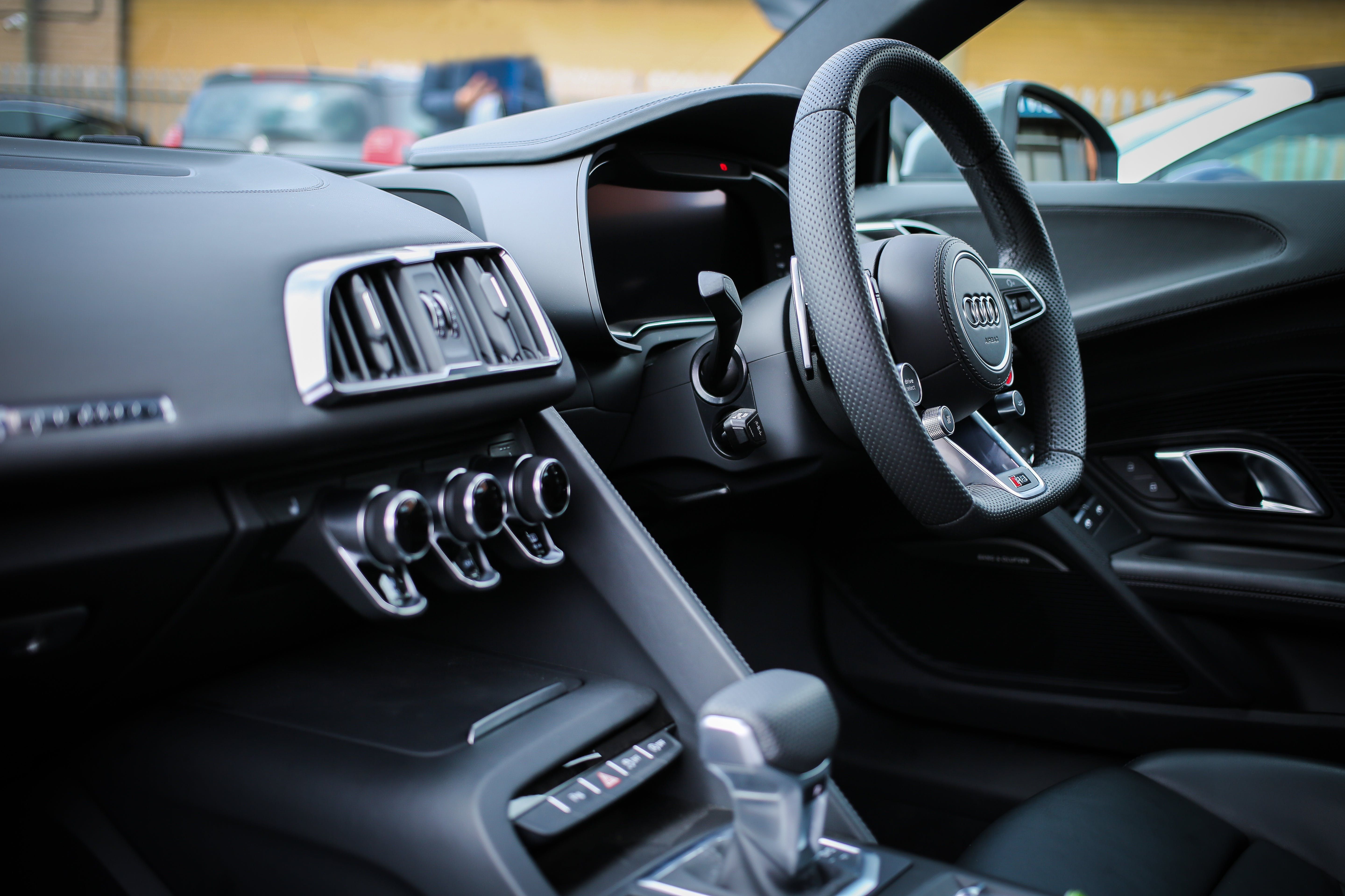Photo of Black Steering Wheel