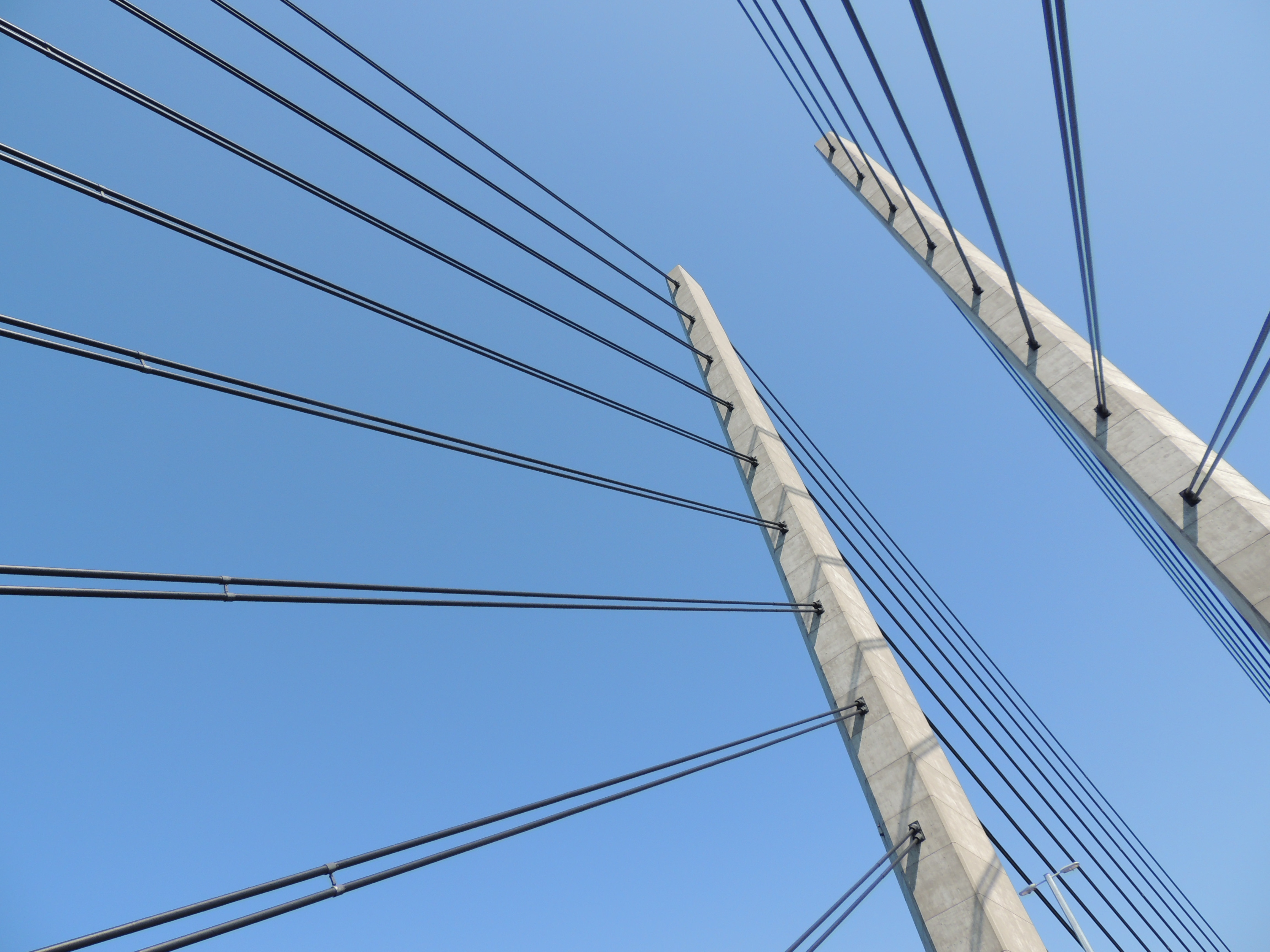 Low Angle Photography of Cable Railings at Daytime