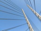 sky, building, bridge