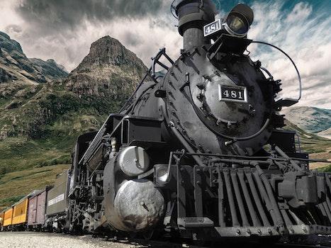 Free stock photo of landscape, train, mountain, vehicle