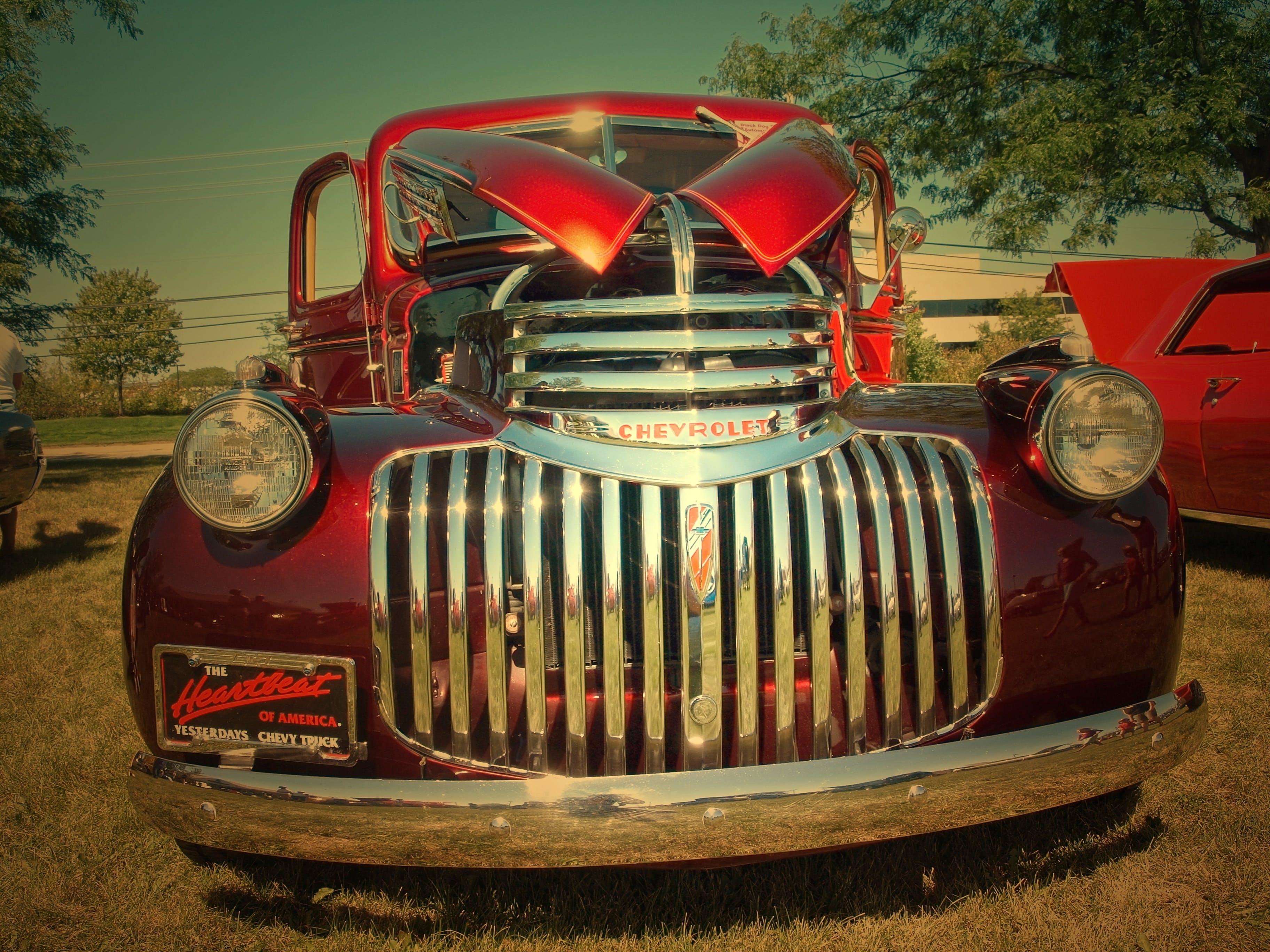 Free stock photo of old, american, retro, transportation