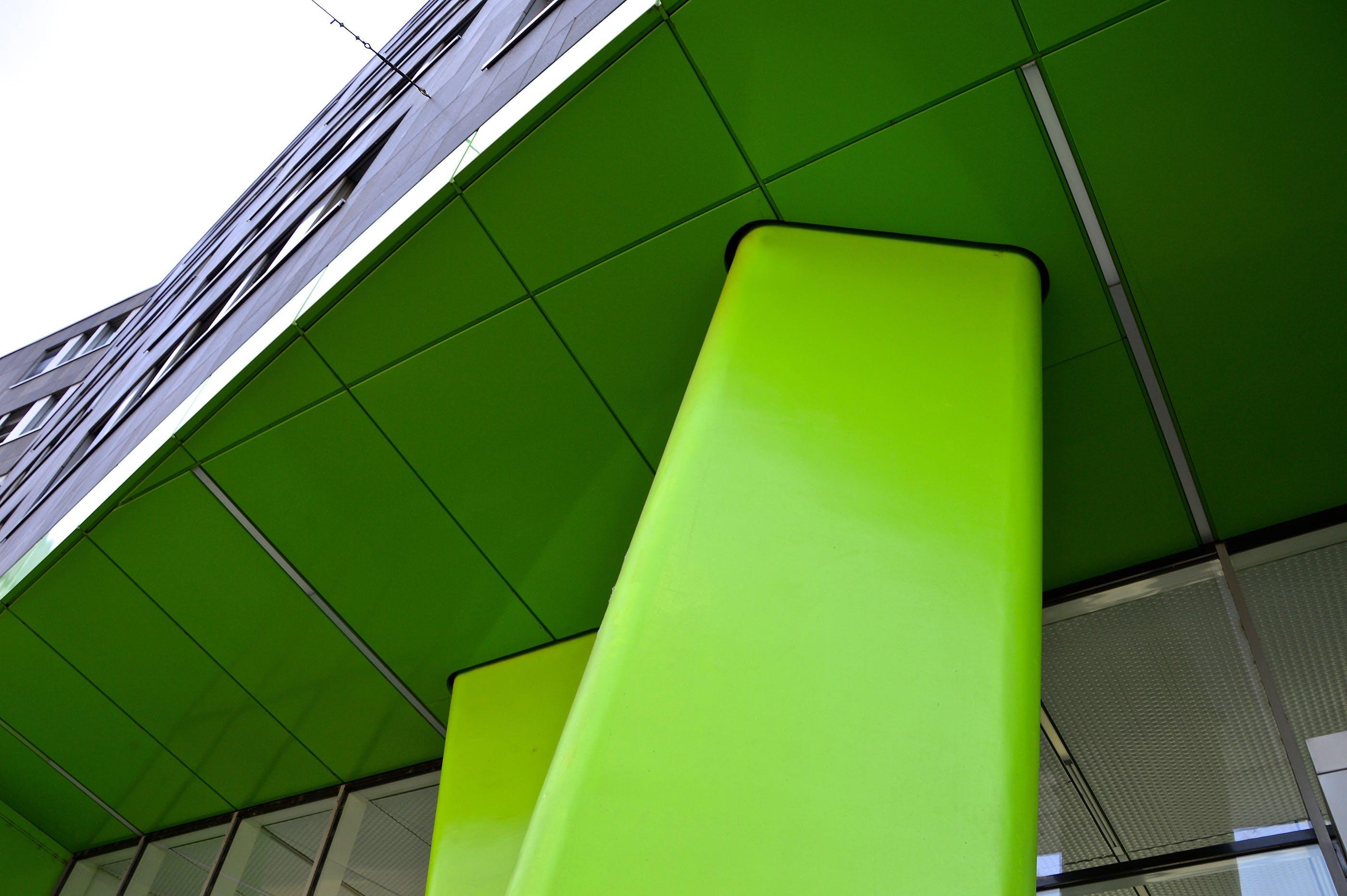 Closeup Photo of Green Bench