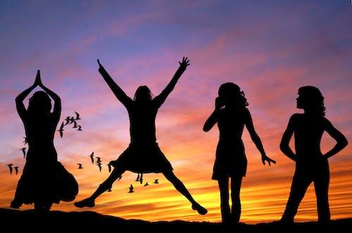 Imagine de stoc gratuită din apus, cer, distracție, femei