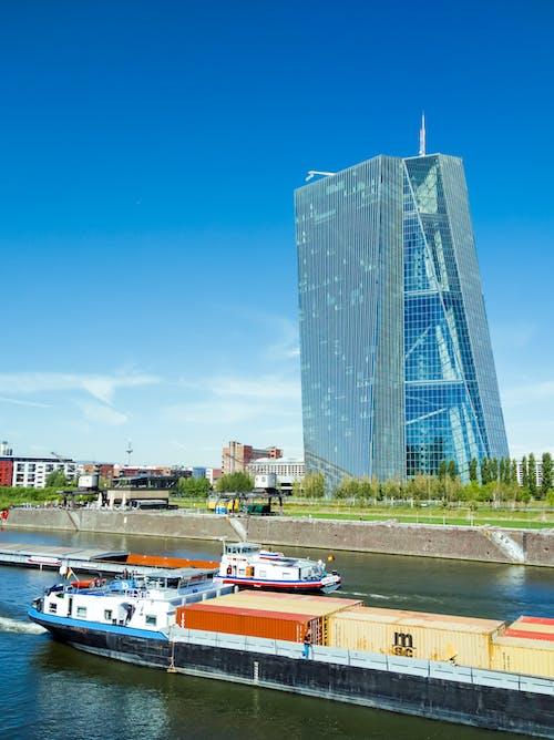 Fotos de stock gratuitas de arquitectónico, arquitectura moderna, azul, banco