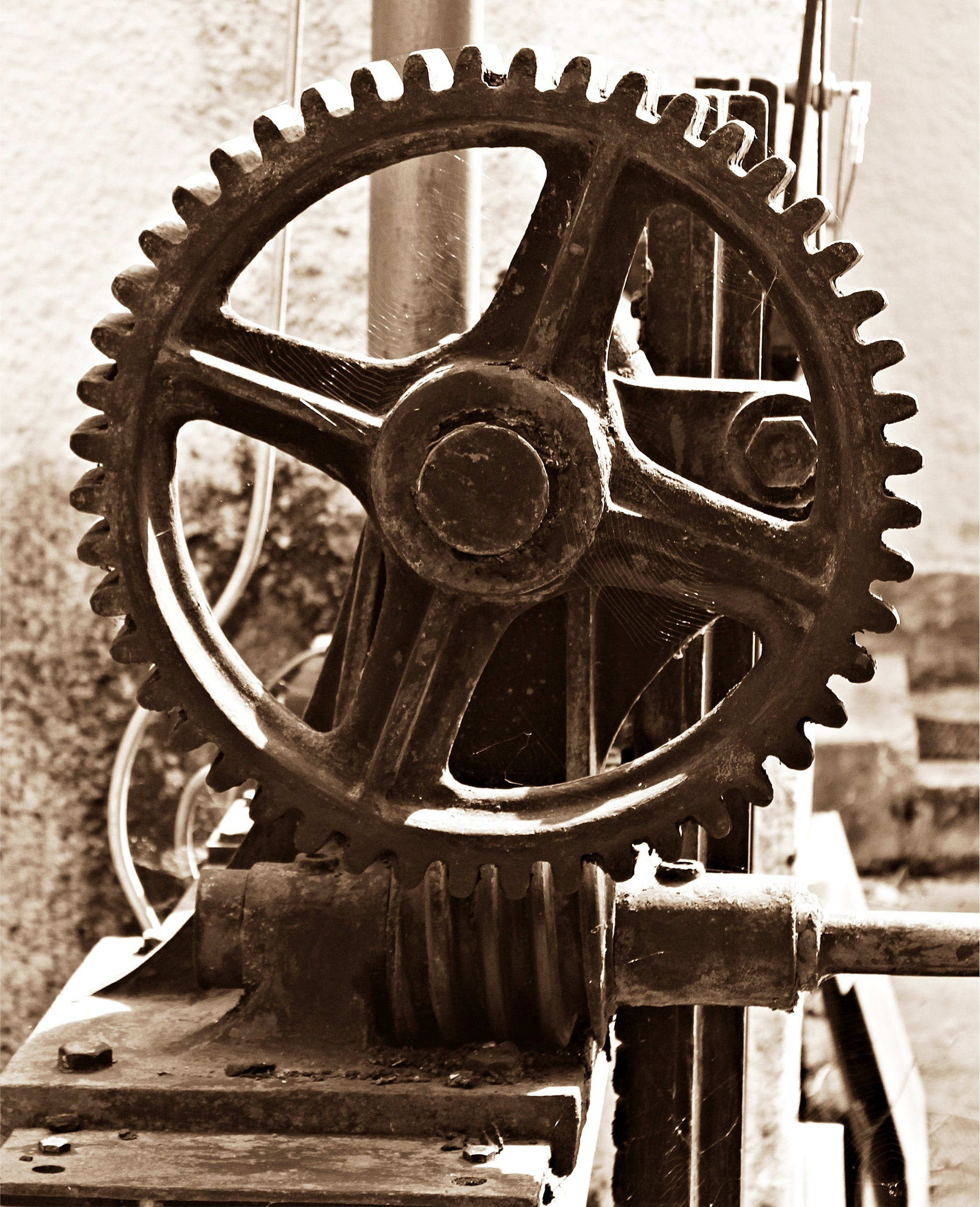 Free stock photo of technology, wheels, drive, gears