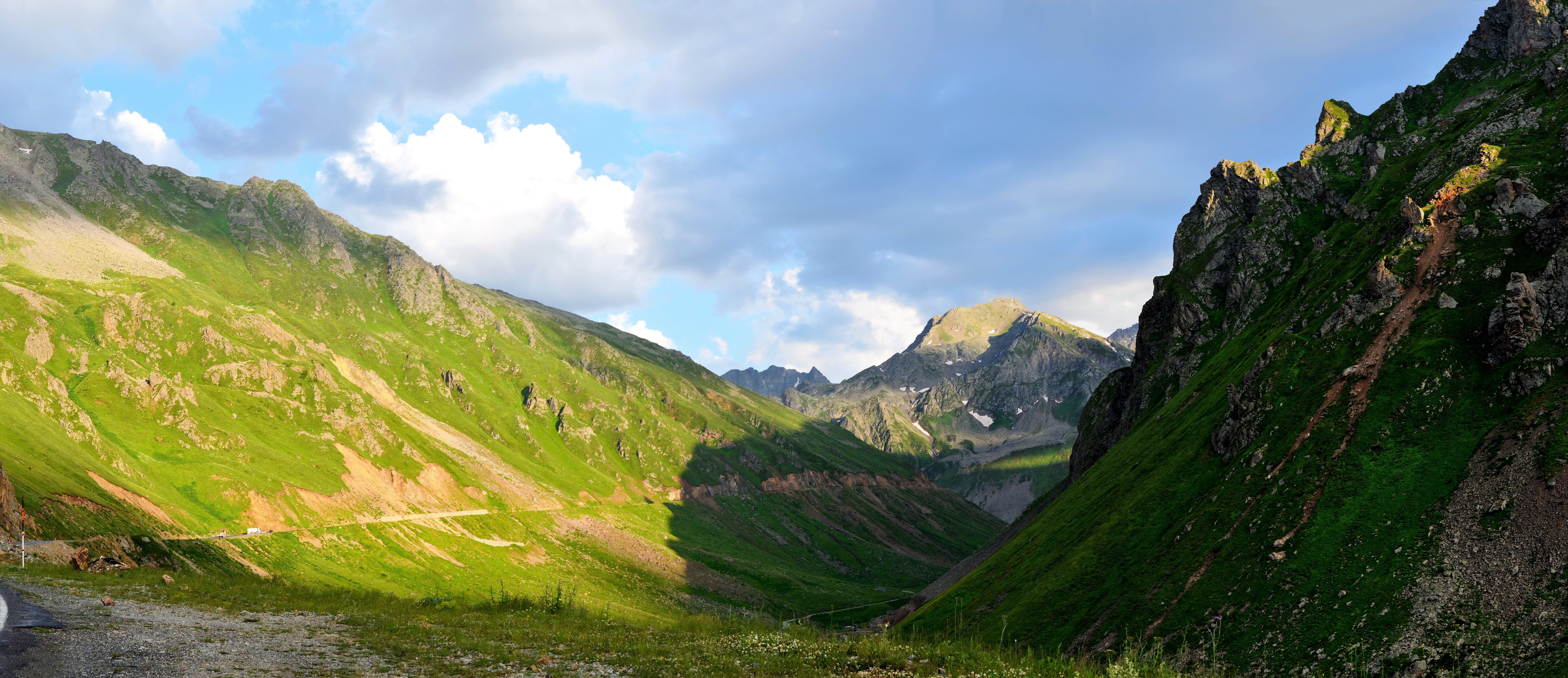 Grass Field Mountain