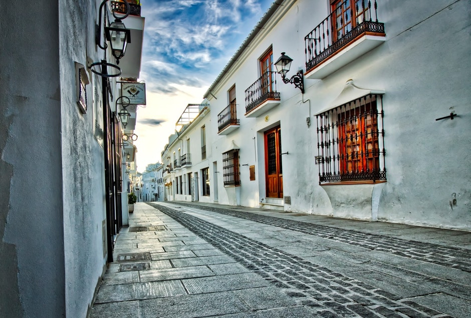 alley, architecture, buildings