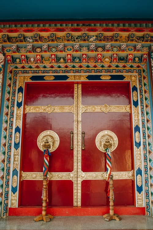 Red Temple Door
