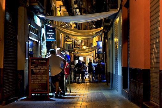 Free stock photo of light, city, people, night