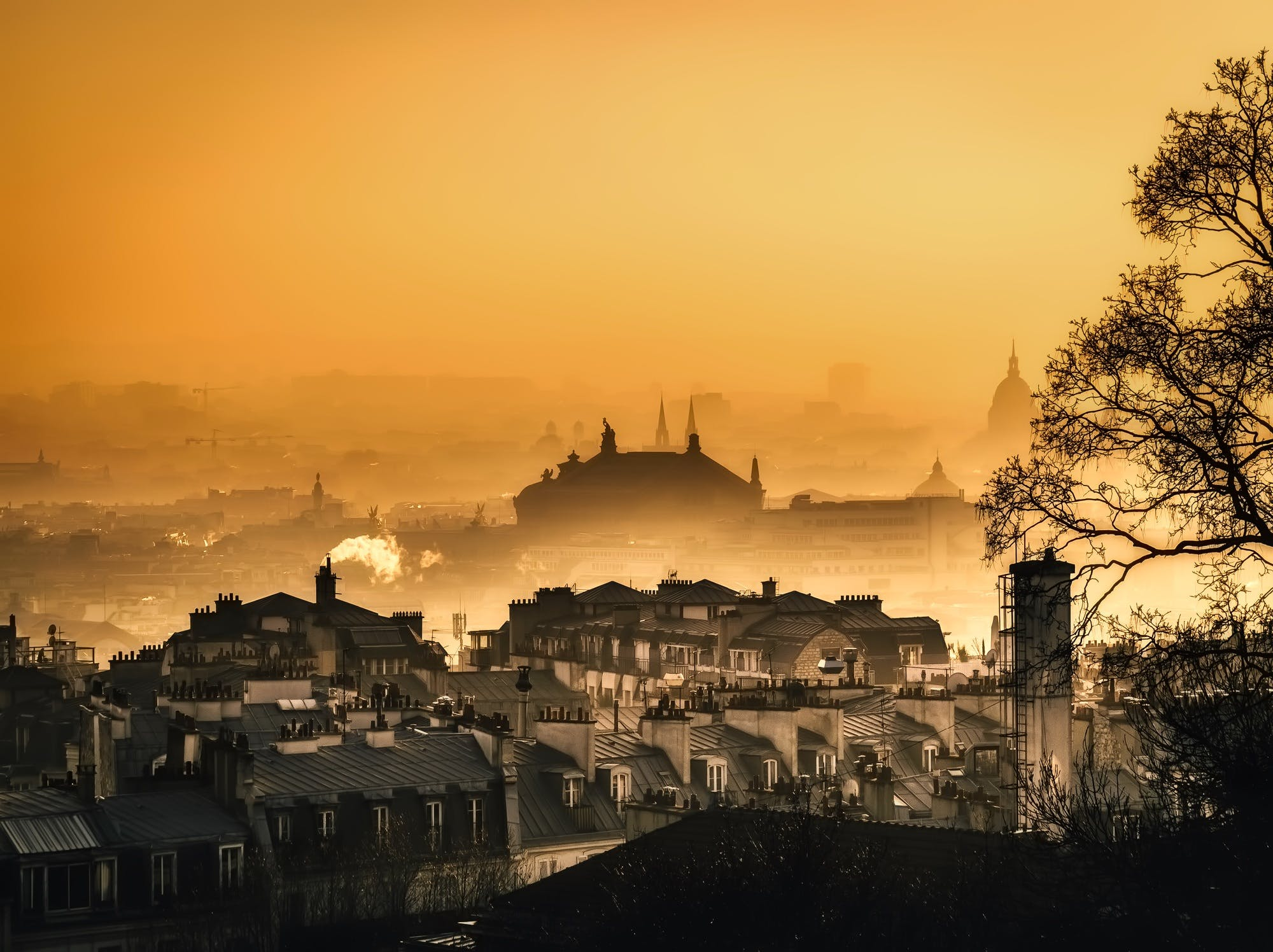 Free stock photo of city, dawn, sky, paris