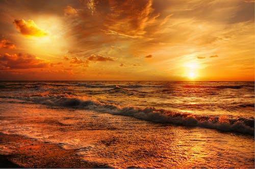 açık, akşam, Akşam gökyüzü, alaca karanlık içeren Ücretsiz stok fotoğraf