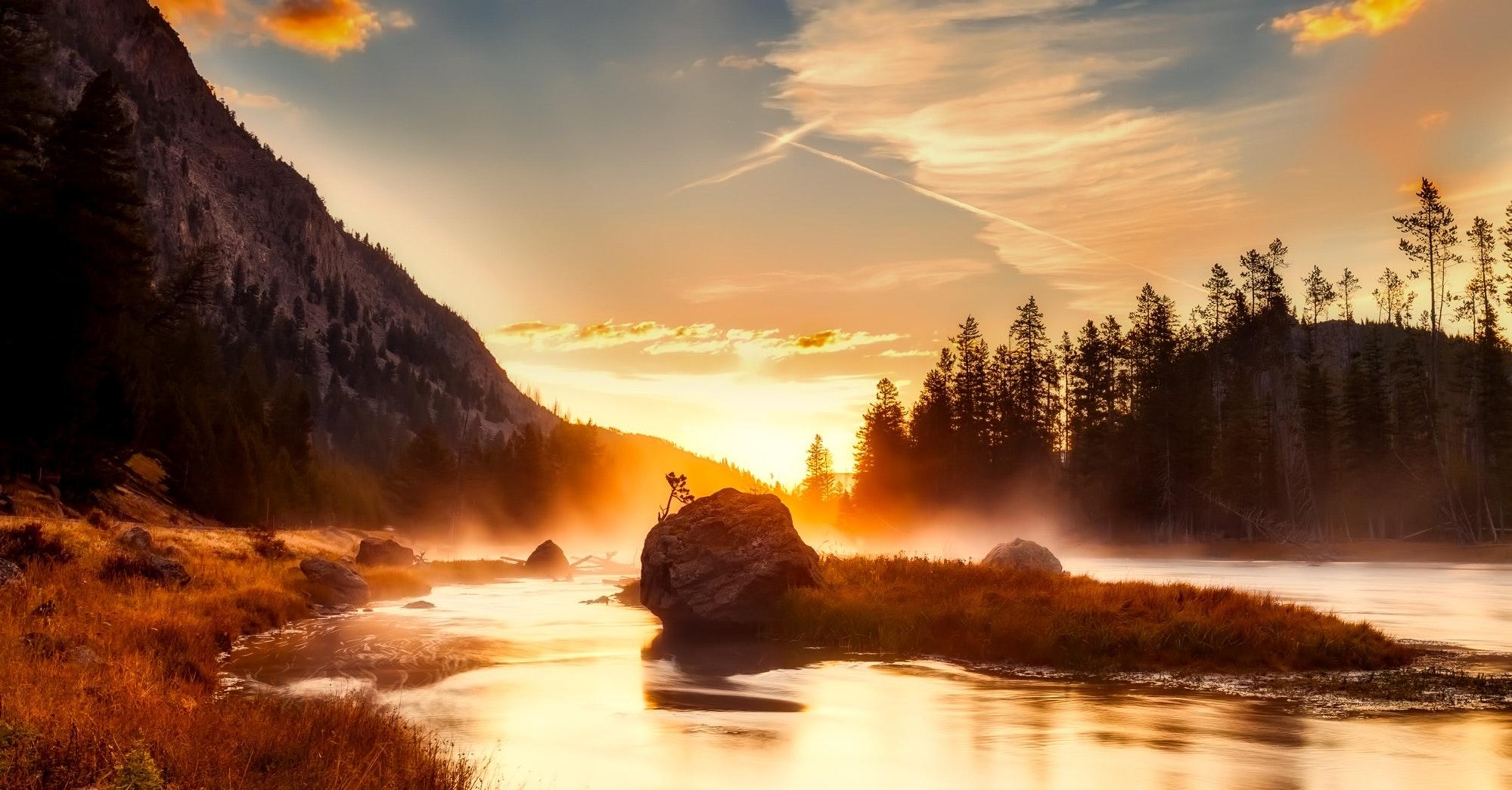 River Landscape Photography Free Stock Photo