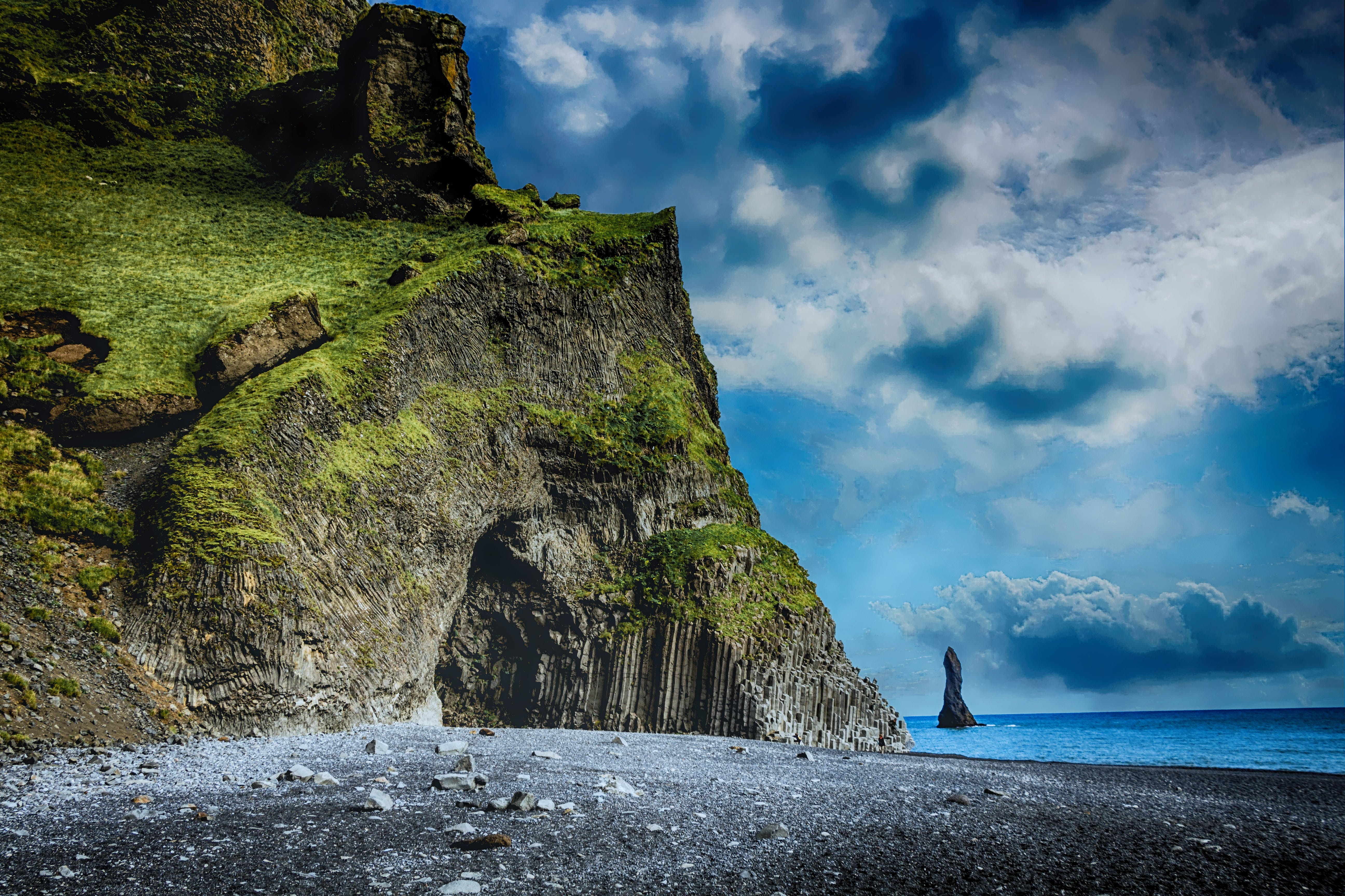 Rock Formation Beside Shoreline