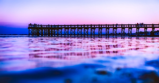 Free stock photo of jetty, sea, dawn, nature