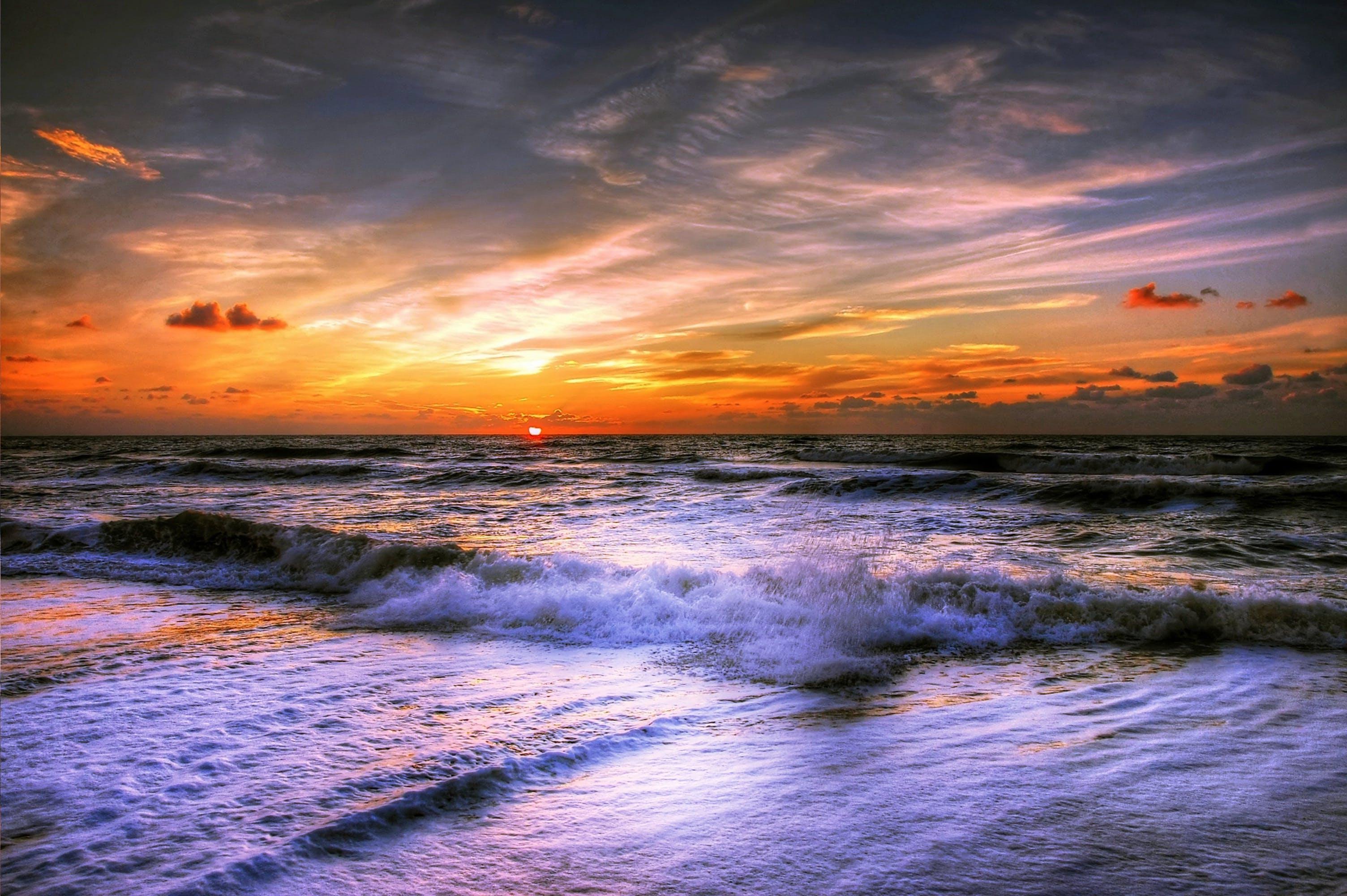 Gratis lagerfoto af afslapning, aften, bølger, Danmark